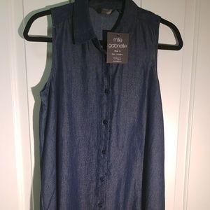 🐧3/$21 Denim button up dress